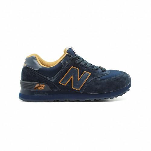 New Balance Женские 574 Navy Gold