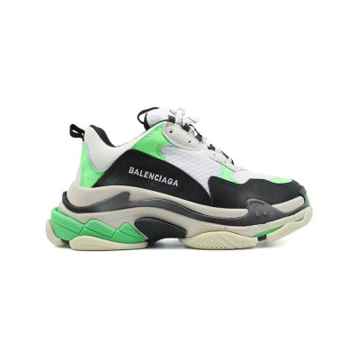 Купить Женские кроссовки Balensiaga Triple S Neon Green White