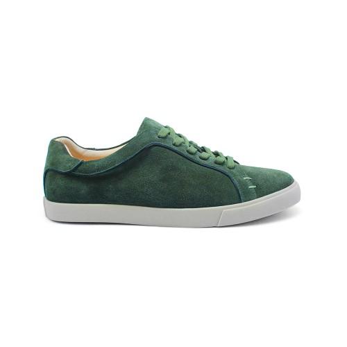 Мужские кеды Loro Piana Freetime Walk Sneakers Emerald Green Suede