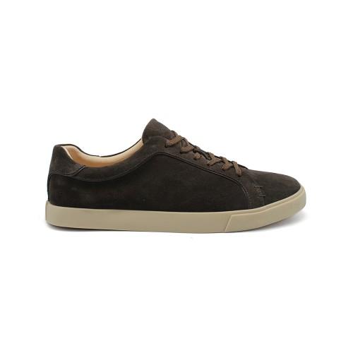 Мужские кеды Loro Piana Freetime Walk Sneakers Chocolate Suede