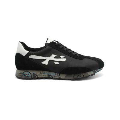 Мужские кроссовки Premiata Hattori Sneakers Black из очень нежной замши