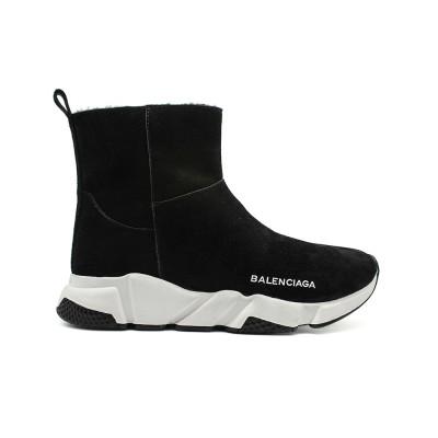 Купить Женские кроссовки Balensiaga Speed Trainer Black Winter