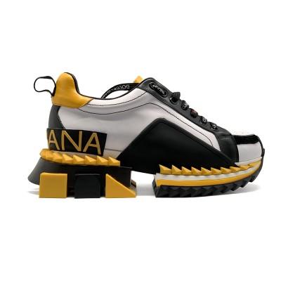 Купить Женские кроссовки Dolce & Gabbana Super King Yellow недорого!