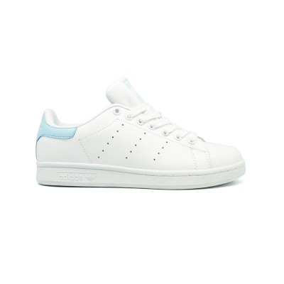 Женские кроссовки Adidas Stan Smith Leather White-Blue