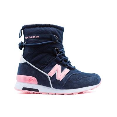 Кроссовки Зимние New Balance Женские Pink-Navy