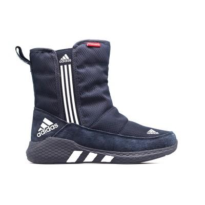 Дутики зимние Adidas Navy