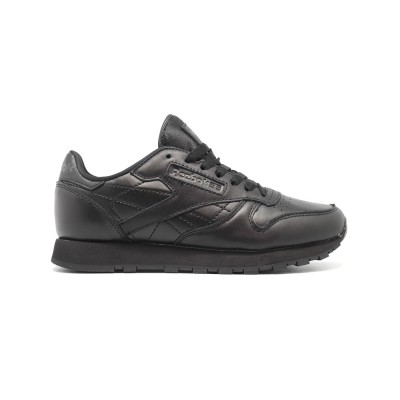 Женские кроссовки Reebok Classic Lether Black - BeInKeds.ru