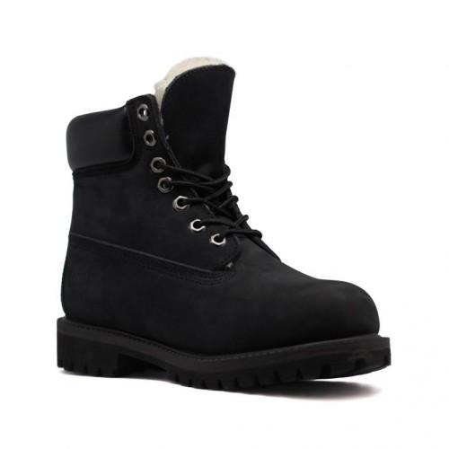 Мужские ботинки с мехом Timberland 10061 Black
