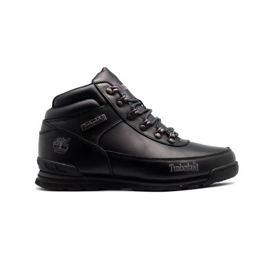 Мужские ботинки с мехом Timberland Euro Sprint Leather Black - BeInKeds.ru
