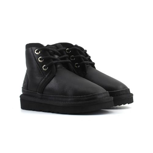 Kids Boot Neumel Leather - Чёрные