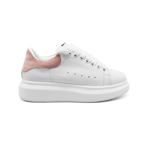 Женские кроссовки Alexander McQueen Luxe Pink Suede