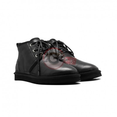Men Boots Neumel Black Leather