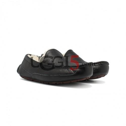 Men's Ascot Black Leather