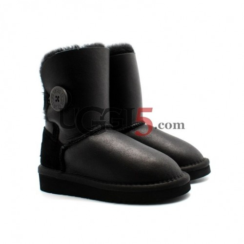 Kids Metallic Bailey Button Black