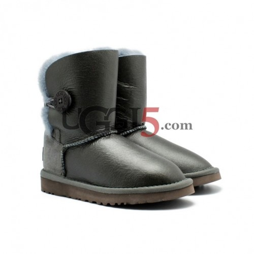Kids Metallic Bailey Button Grey