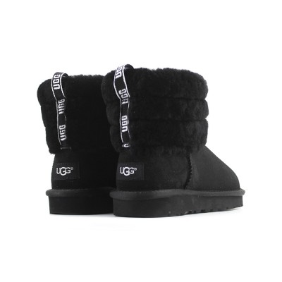 Fluff Mini Quilted Logo Boot Black купить недорого на beinkeds.ru