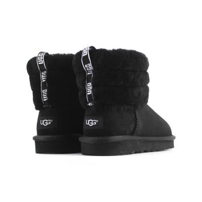 Fluff Mini Quilted Logo Boot Black купить недорого на beinkeds.ru