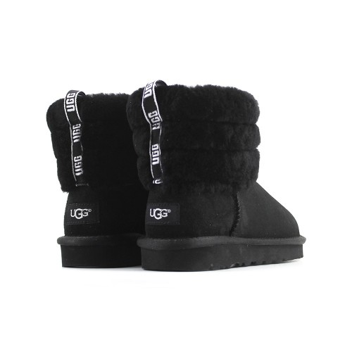 Fluff Mini Quilted Logo Boot Black